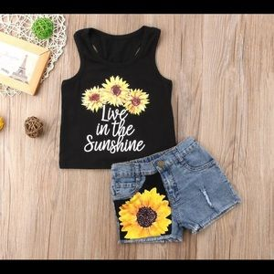 Toddlers 2 pc. Sunflower Set